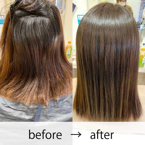艶髪矯正ストレー 女性の事例